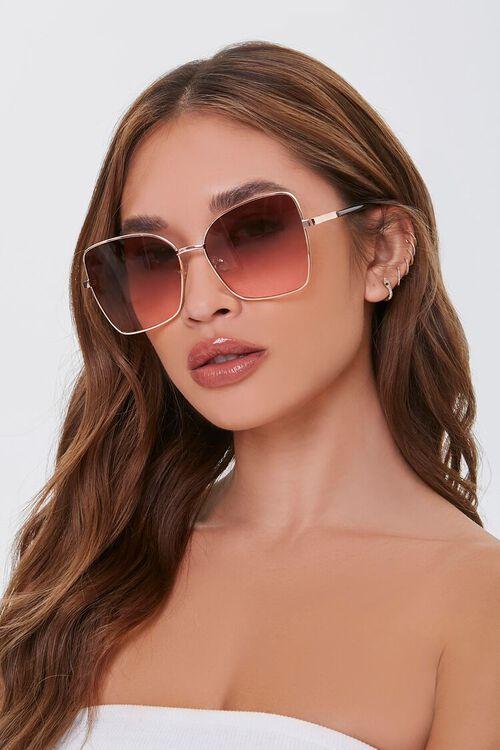 Tinted Square Metal Sunglasses, image 1