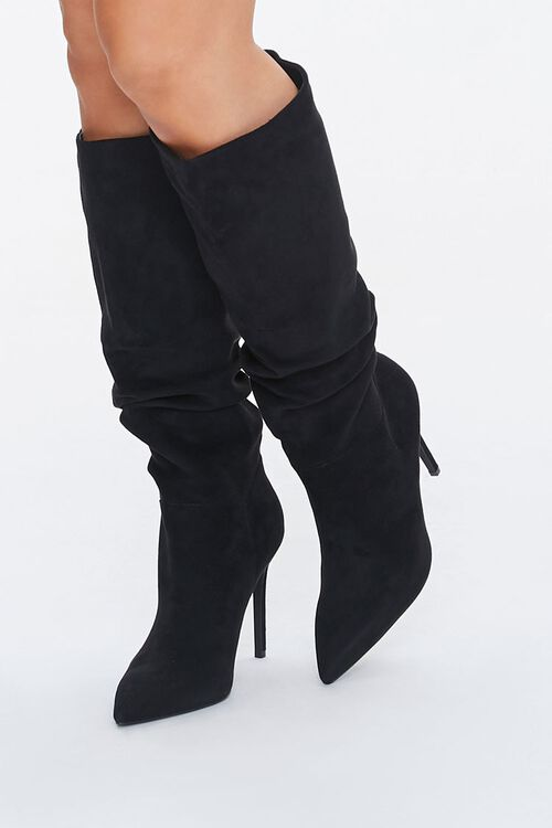 Slouchy Stiletto Knee-High Boots, image 1