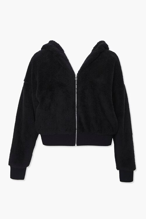 Plus Size Plush Zip-Up Hoodie, image 1