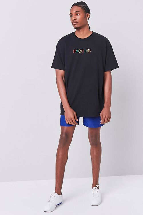 BLACK/MULTI Emotions Embroidered Graphic Tee, image 4