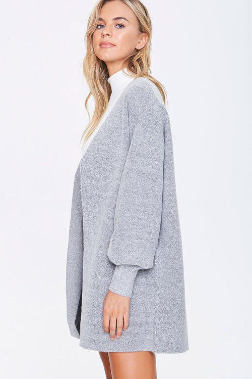 Balloon-Sleeve Cardigan Sweater, image 2