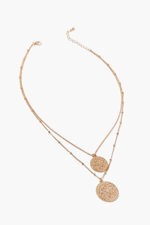 Filigree Pendant Layered Necklace, image 2