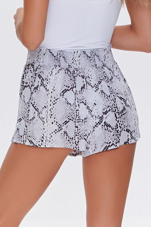 Snakeskin Print Swim Cover-Up Shorts, image 4
