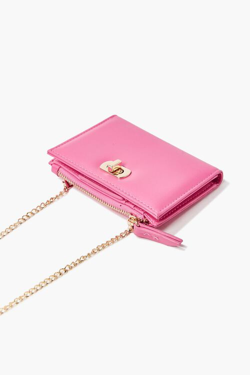 PINK Faux Leather Twist-Lock Coin Purse, image 3