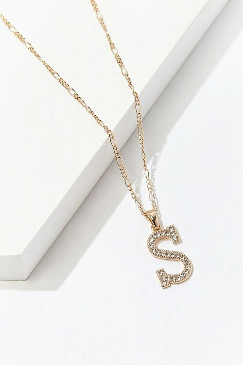 GOLD/S Initial Pendant Necklace, image 2