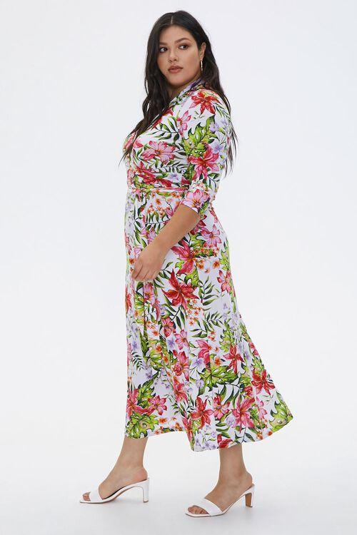 Plus Size Tropical Floral Dress, image 2