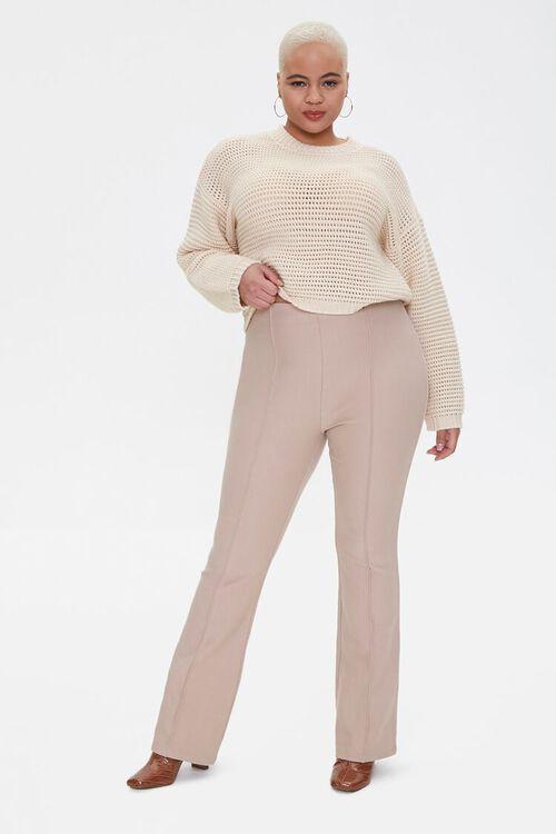 Plus Size Boxy Open-Knit Sweater, image 4