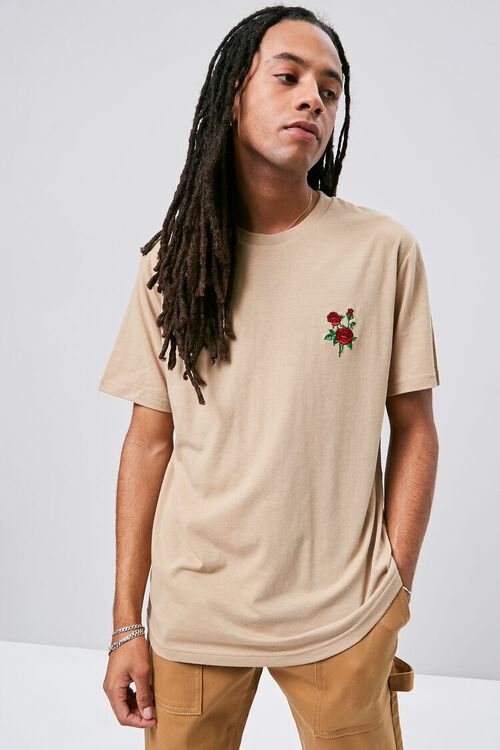 Rose Embroidered Graphic Tee, image 1