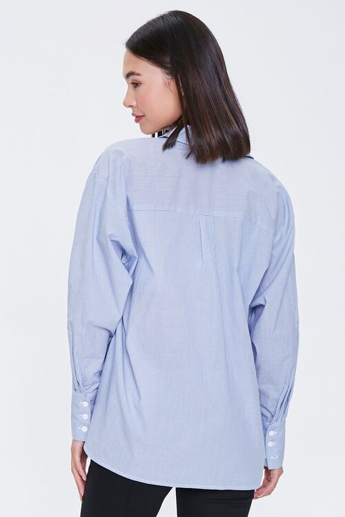 Pinstriped Bralette & Shirt Set, image 3