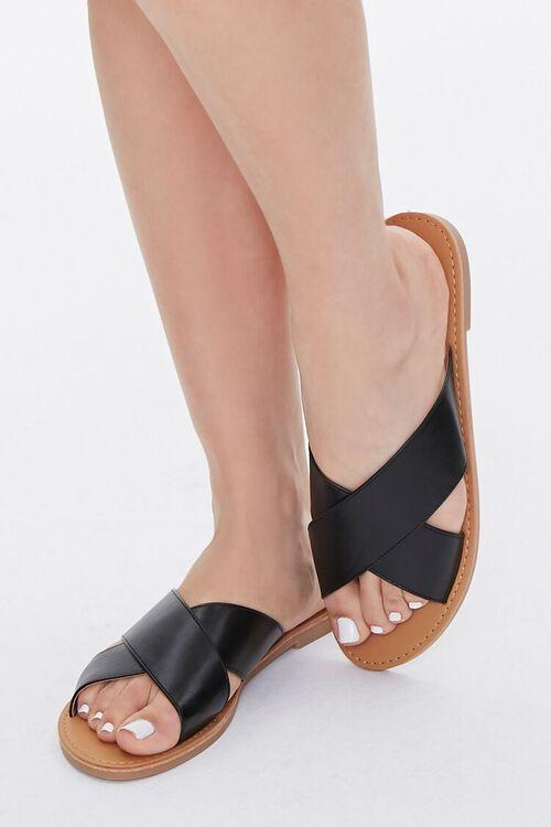 Faux Leather Crisscross Sandals, image 1