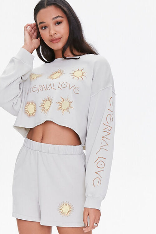 Celestial Graphic Pullover & Shorts Set, image 1