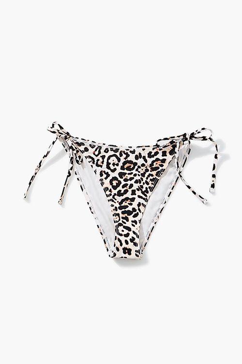 Leopard Print String Bikini Bottoms, image 5