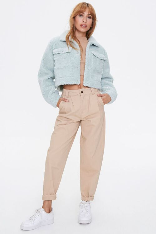 Faux Shearling Buttoned Jacket, image 4
