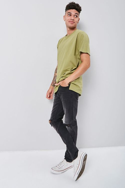 Vented High-Low Crew Neck Tee, image 4