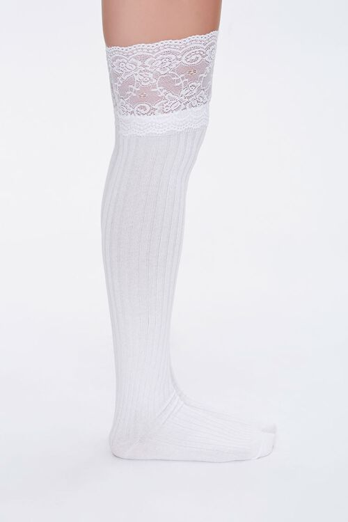 Lace Knee-High Socks, image 2
