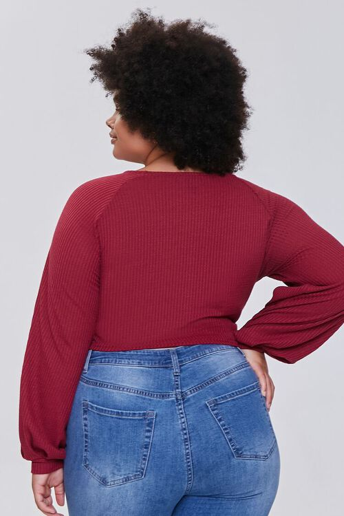 Plus Size Ruched Crop Top, image 3