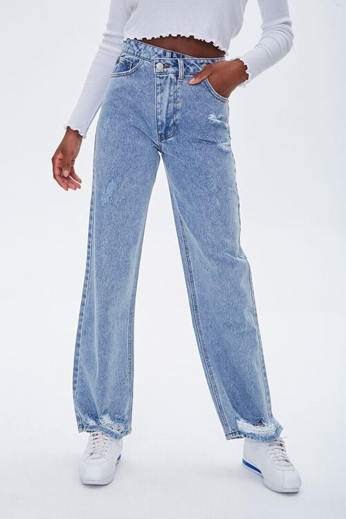 Crisscross High-Rise Straight Jeans, image 2