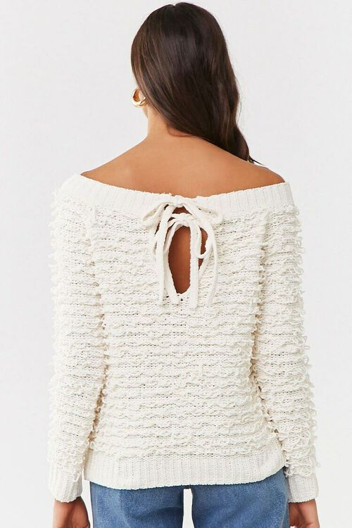 CREAM Off-the-Shoulder Loop-Knit Sweater, image 3