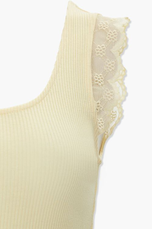 Lace-Trim Ribbed Tank Top, image 4