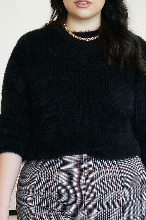 Plus Size Fuzzy Sweater, image 1