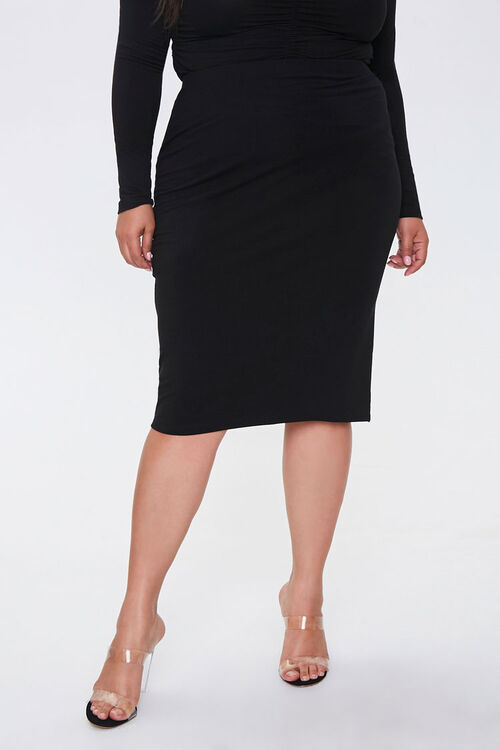 Plus Size High-Rise Skirt, image 2