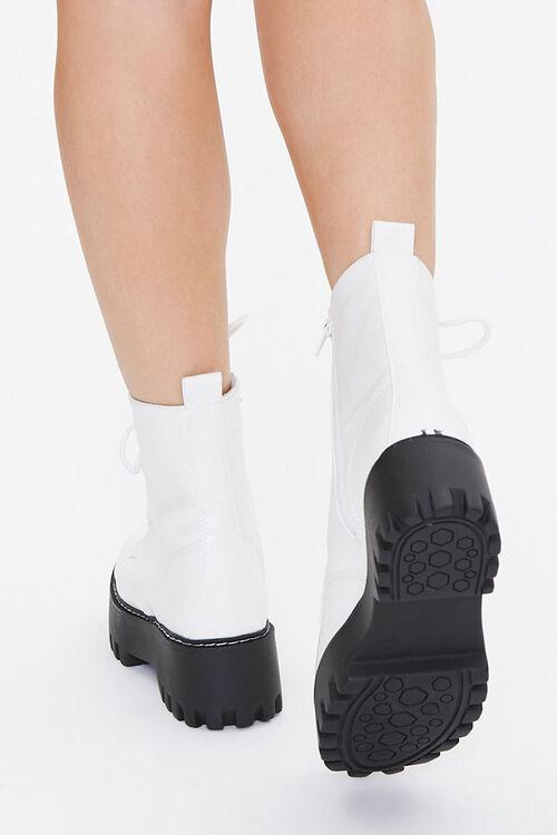 Faux Leather Lace-Up Platform Boots, image 3