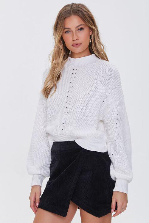 BLACK Corduroy Mini Skirt, image 1