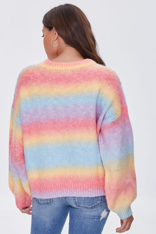 PINK/MULTI Colorblock Cable Knit Sweater, image 3