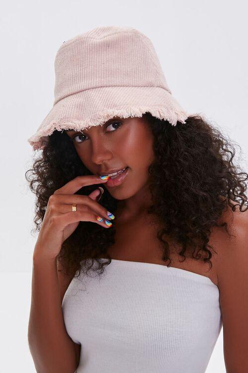 ROSE Frayed Corduroy Bucket Hat, image 1