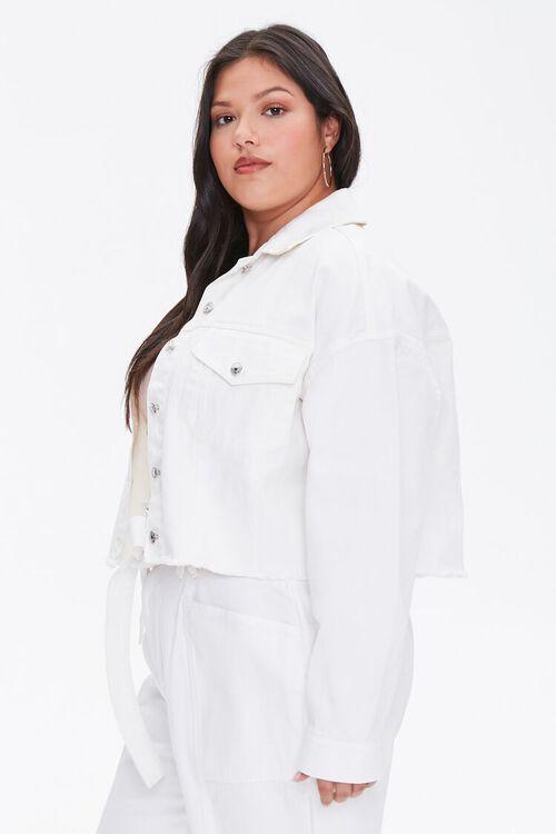 Plus Size Cropped Denim Jacket, image 2