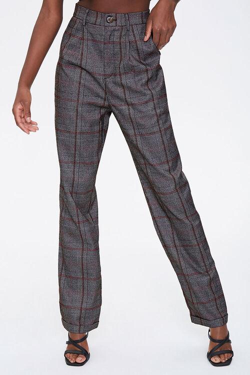 Glen Plaid Cuffed Pants, image 1
