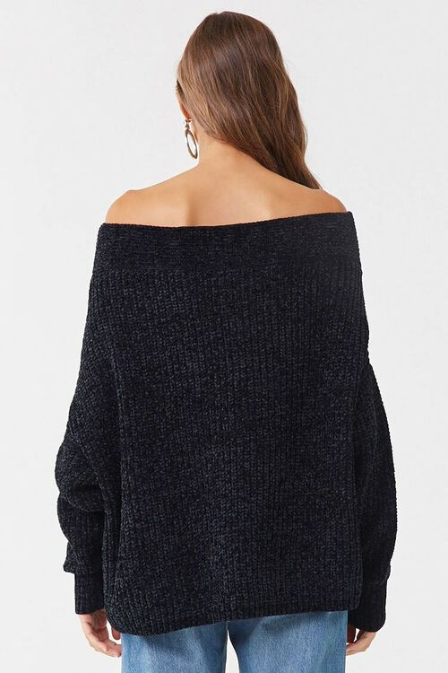 Chenille Off-the-Shoulder Sweater, image 3
