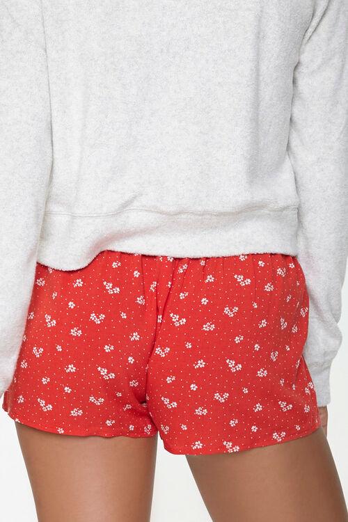 RED/WHITE Polka Dot Drawstring Lounge Shorts, image 4