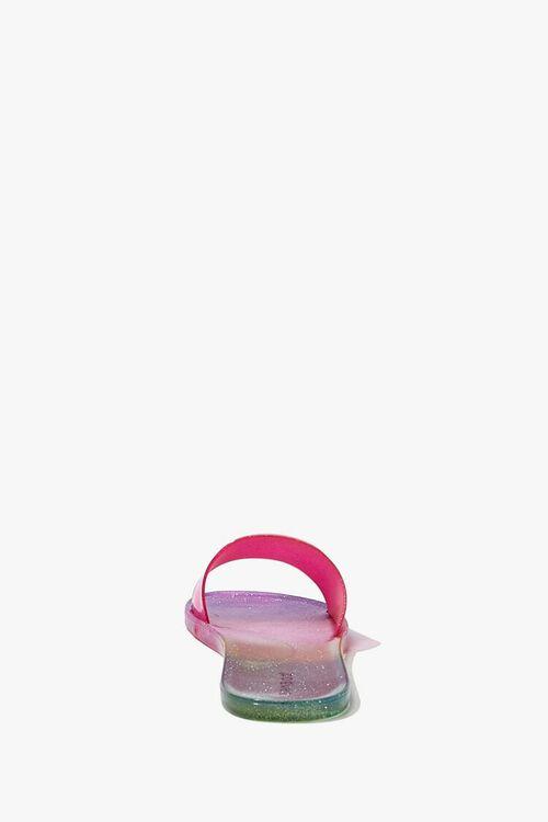 PINK/MULTI Glitter Gradient Jelly Slides, image 2