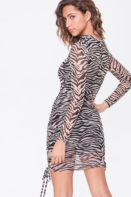 BLACK/TAUPE Tiger Print Cutout Dress, image 3