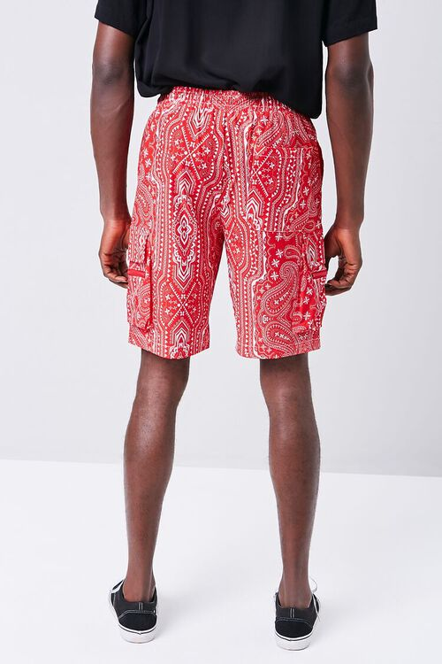 Bandana Print Drawstring Cargo Shorts, image 4