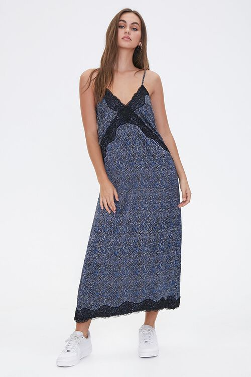 Spotted Print Maxi Dress, image 1