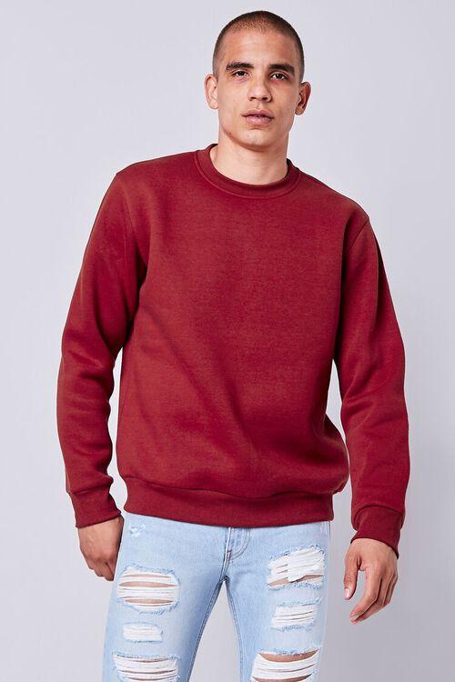 Fleece Crew Neck Sweatshirt, image 1
