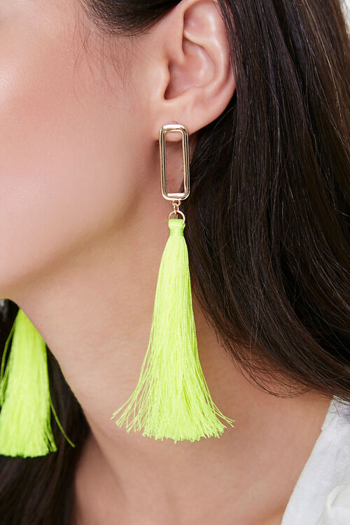 Cutout Tassel Duster Earrings, image 1