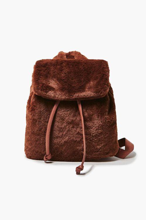 Plush Drawstring Backpack, image 1