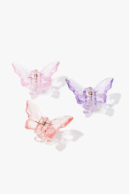 PINK/MULTI Butterfly Clip Set, image 1