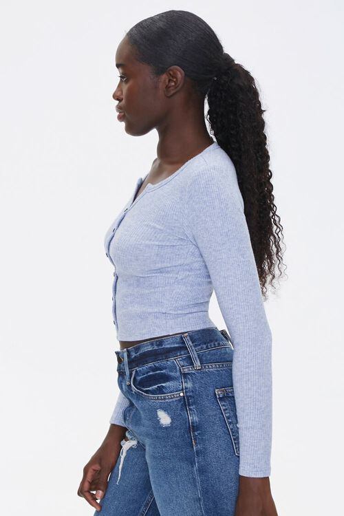 Ribbed Button-Front Top, image 2