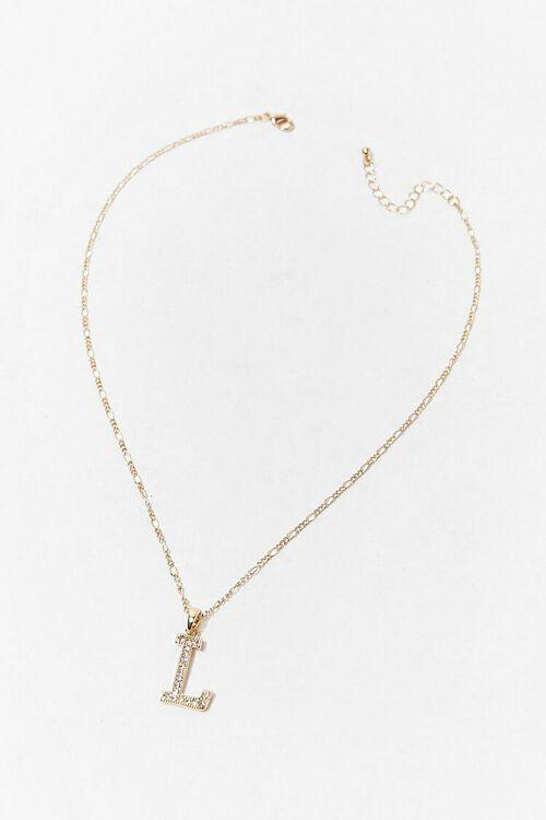 GOLD/L Initial Pendant Necklace, image 3