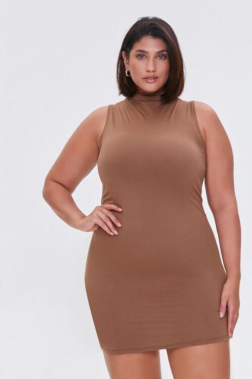 MOCHA Plus Size Mini Sleeveless Dress, image 5
