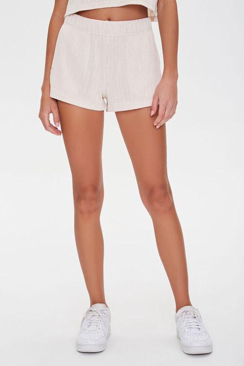 Ribbed Drawstring Shorts, image 2
