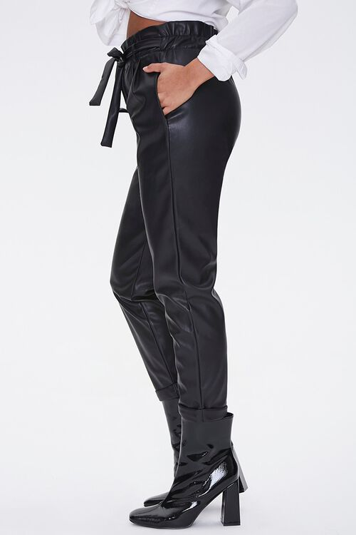 Faux Leather Paperbag Pants, image 3