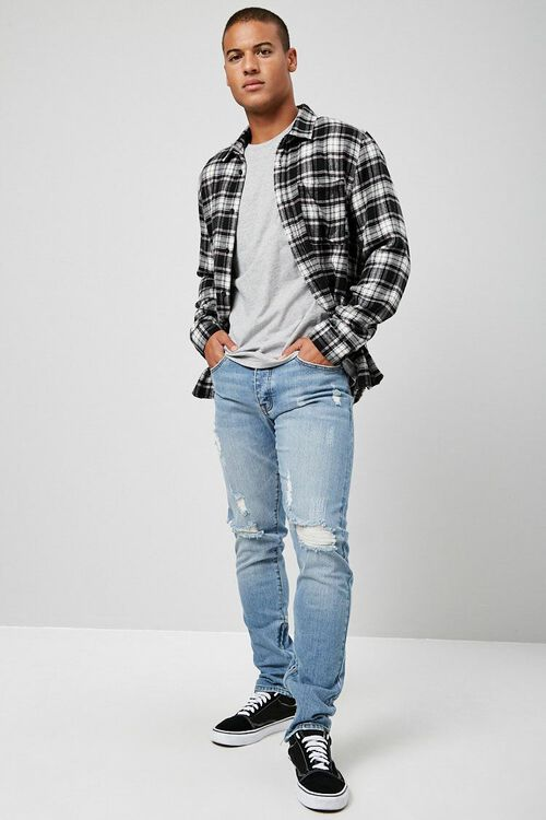 Distressed Ankle-Zip Skinny Jeans, image 4