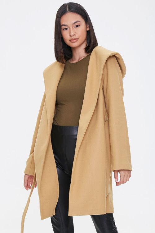 Hooded Wrap Jacket, image 1