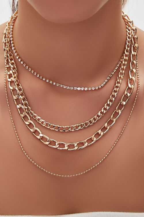 Chunky Chain Layered Necklace, image 1