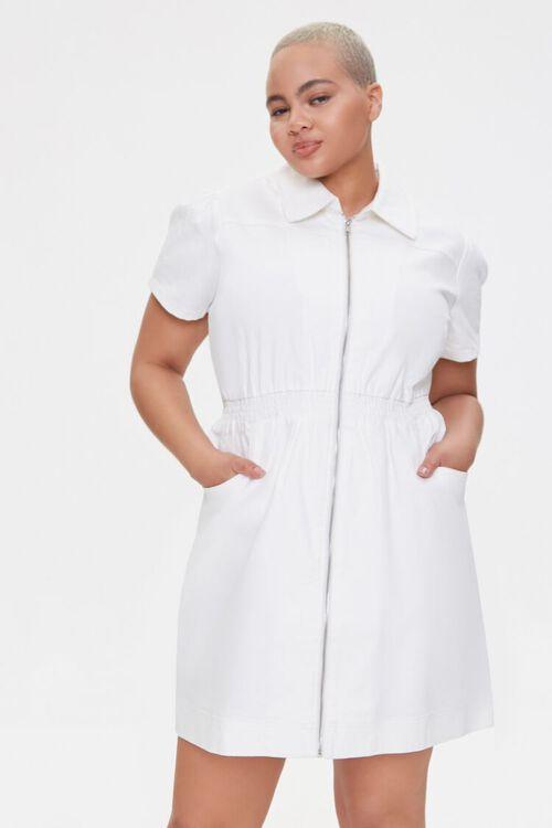 Plus Size Denim Mini Dress, image 1